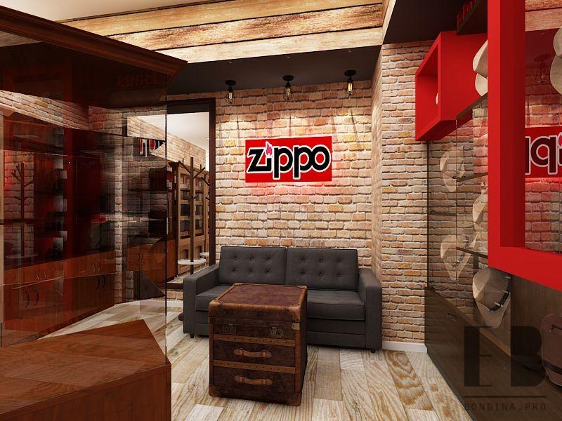 Дизайн места отдыха в бутике табачных изделий