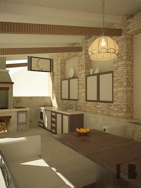 Large porch interior design