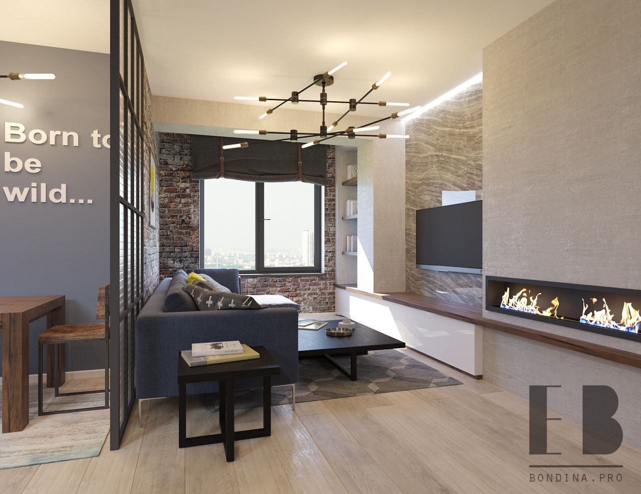 Small living room with fireplace design