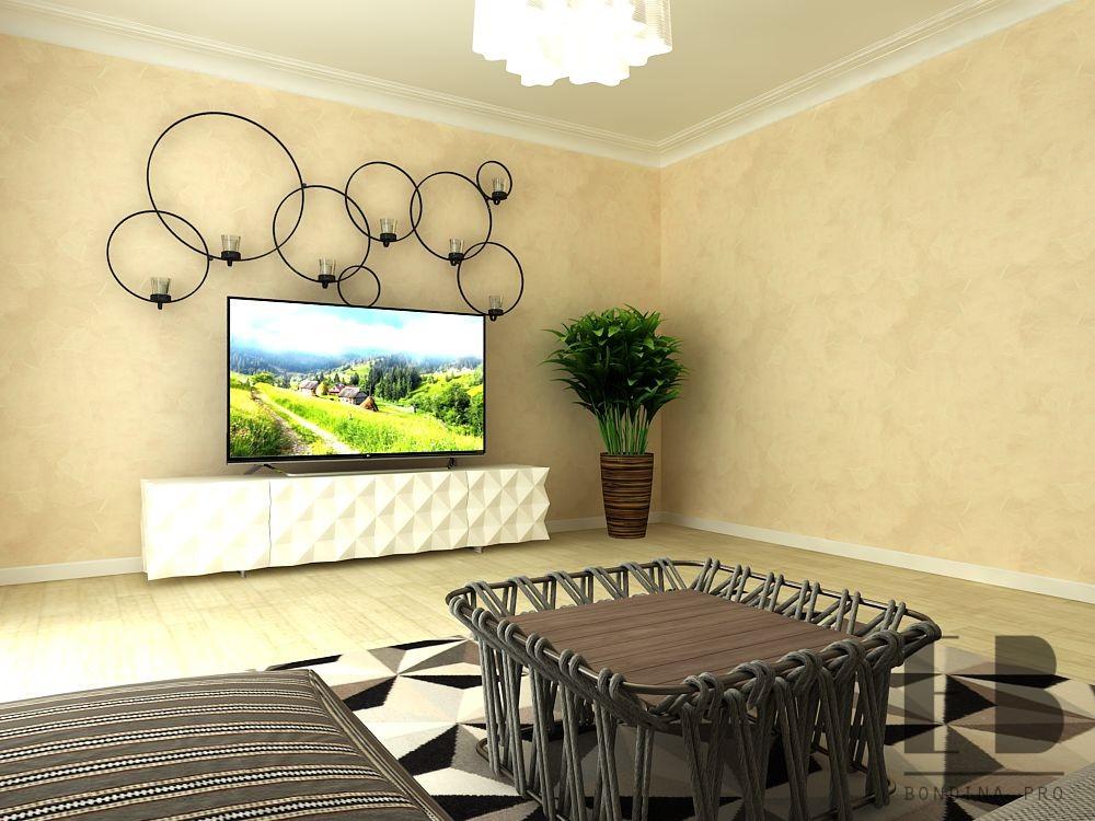 Проект гостиной комнаты
