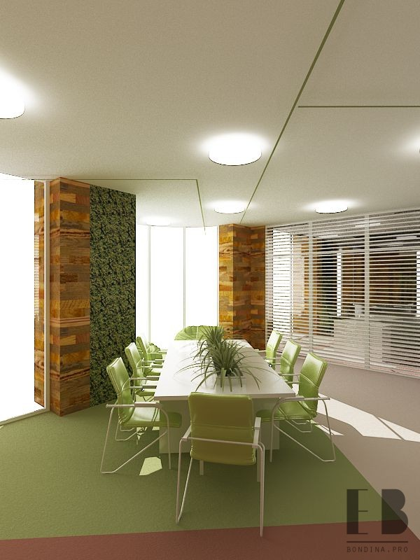 Office Design in Green colors