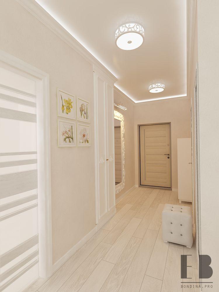 Hallway design in white