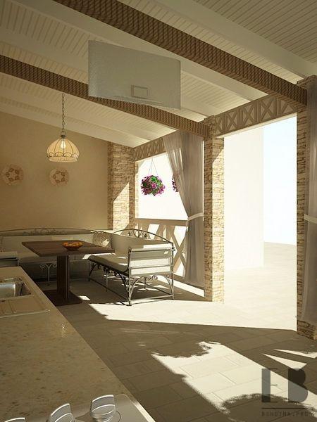 Covered veranda interior