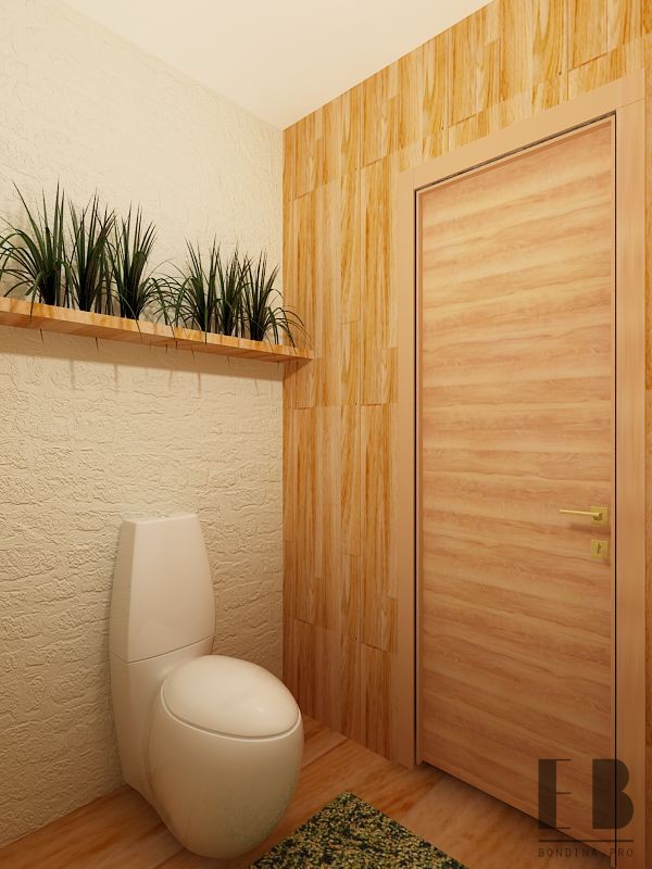 Eco style rest room design
