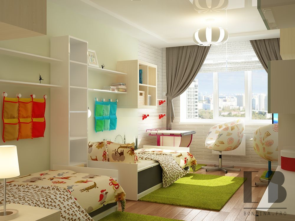 Children's room for two interior design