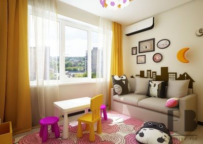 Modern toddler girl room design