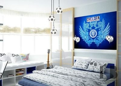 Boys football themed bedroom