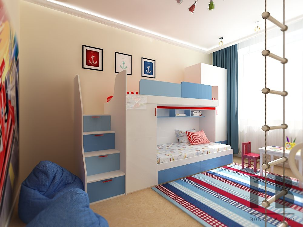 Small bedroom design for boys