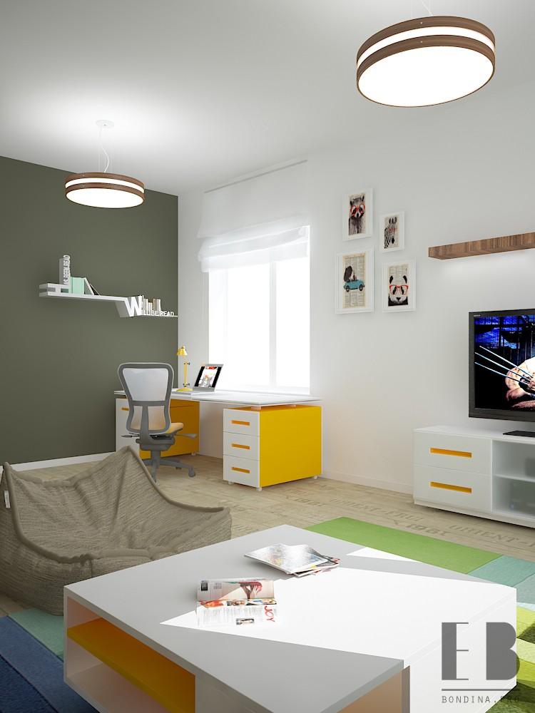 Рабочий стол в квартире студии дизайн интерьера