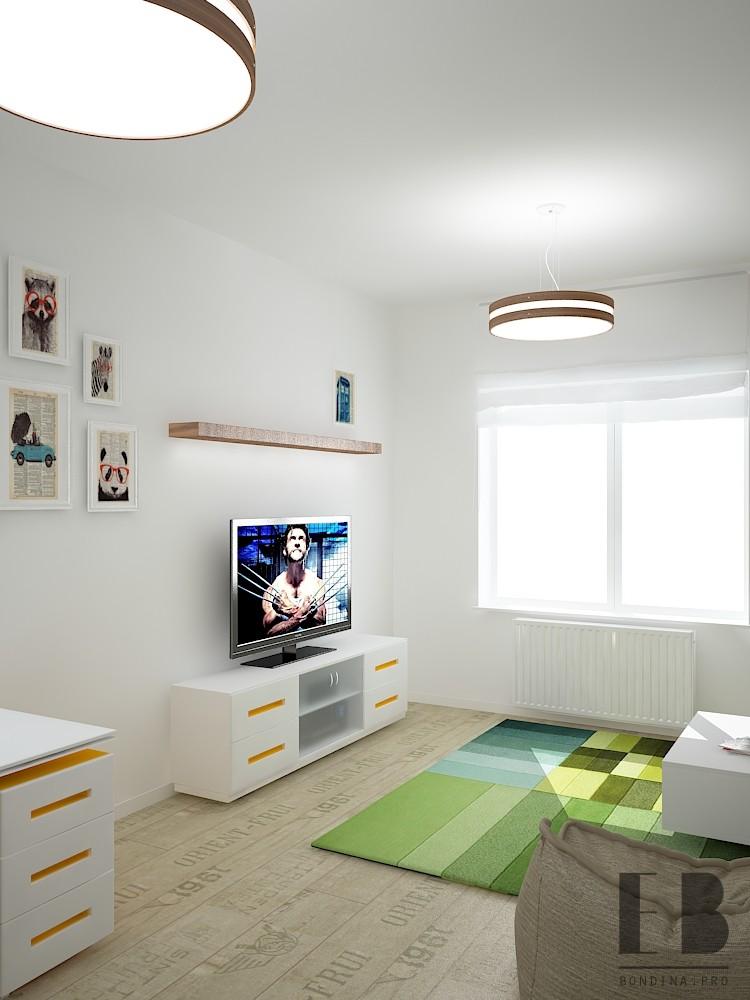 Дизайн комнаты в белых тонах
