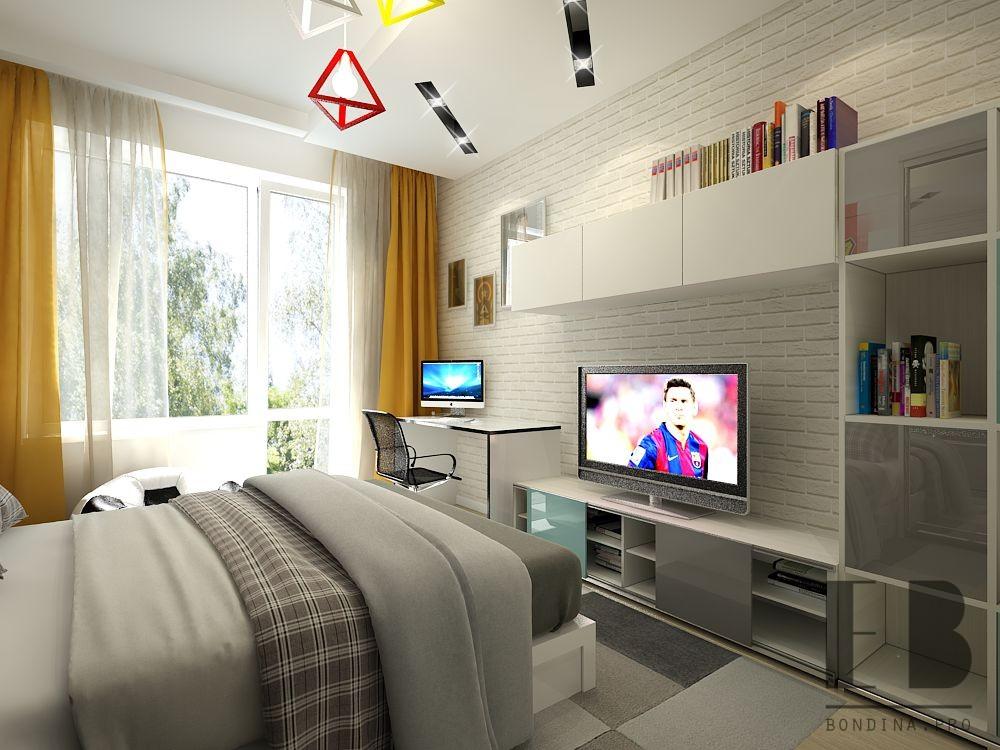 Дизайн комнаты для мальчика подростка
