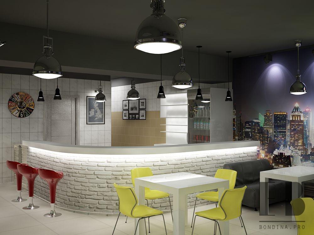 Реконструкция кафе в современном стиле