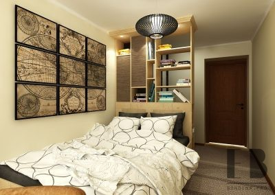 Stylish small bedroom interior design