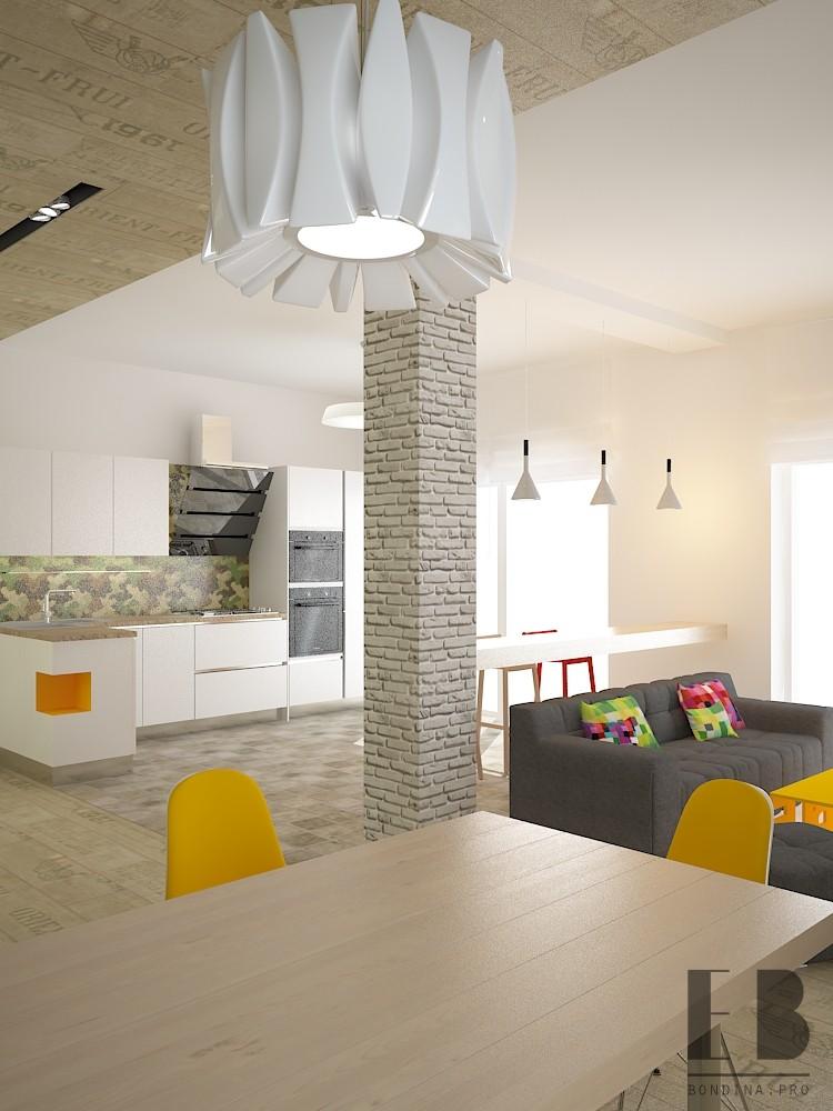 Дизайн квартиры студии для молодой семьи