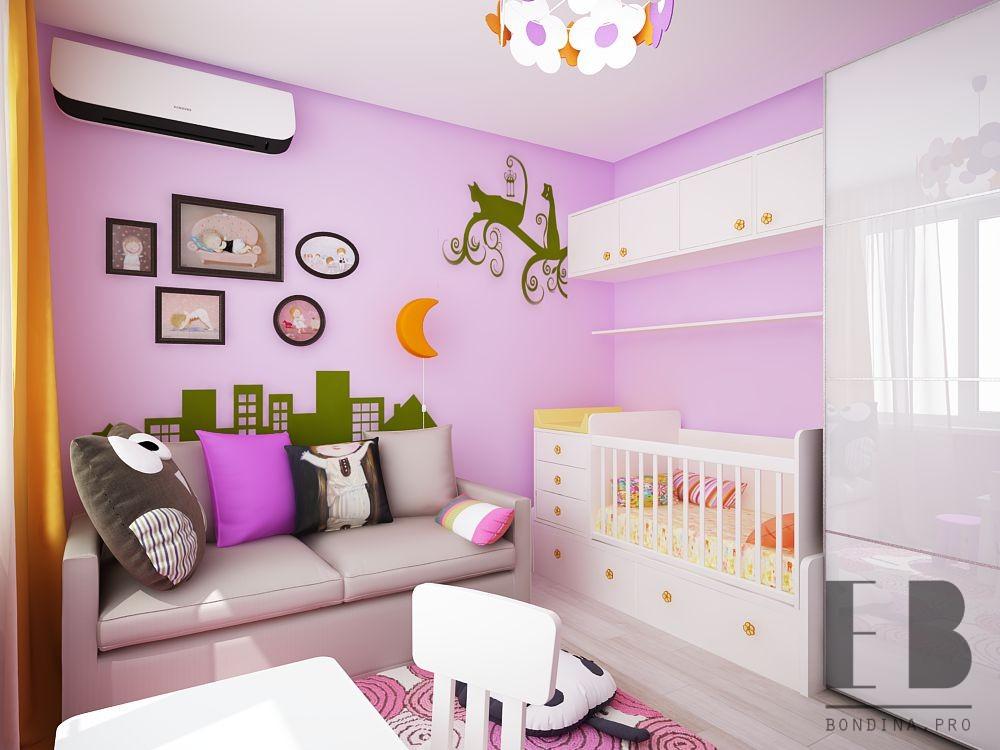 Детская комната для младенца дизайн