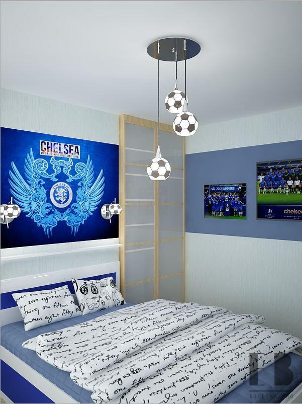 Детская комната для мальчика футболиста