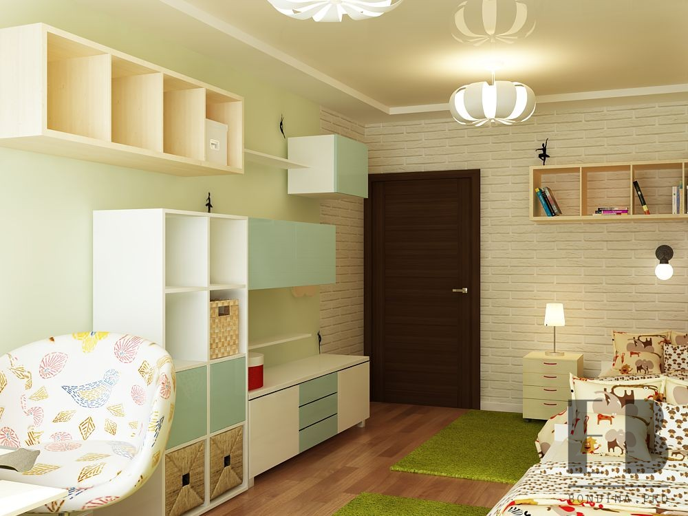 Children's room design in bright colors