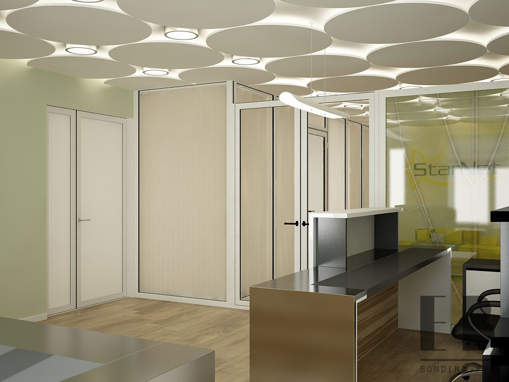 Bright front desk design