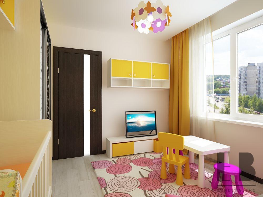 Яркая детская комната дизайн
