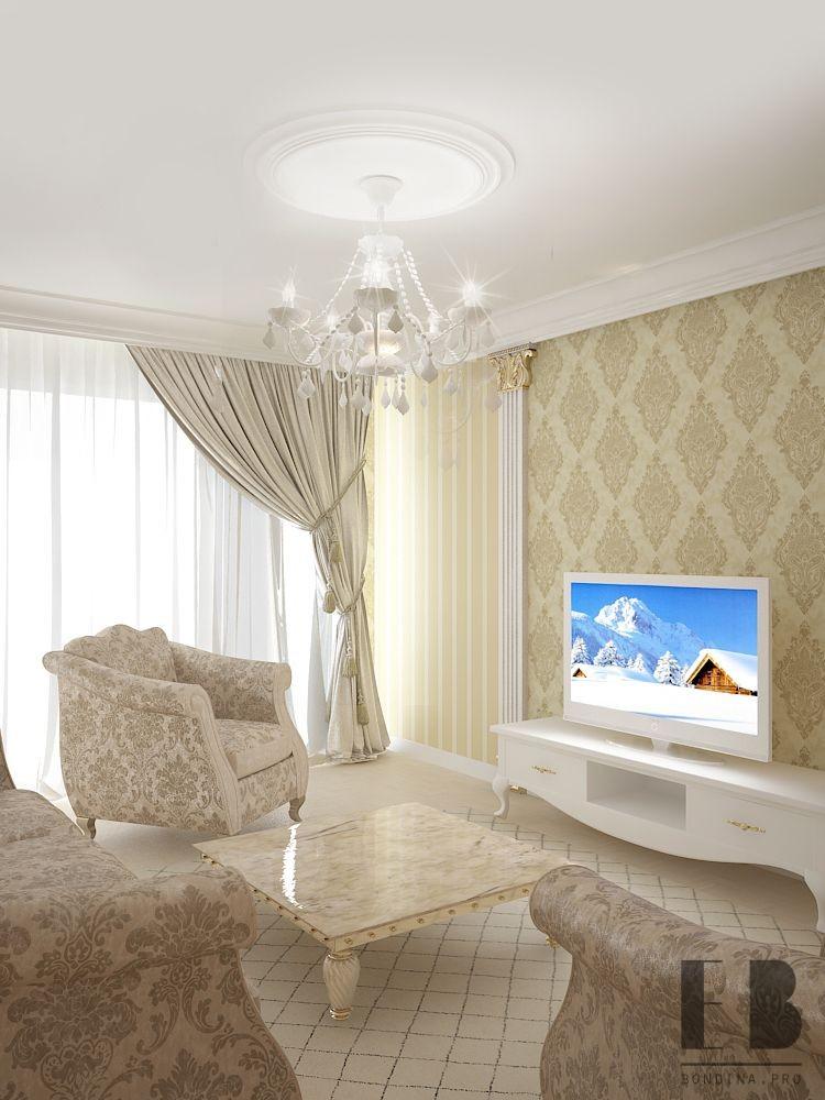 Beige living room design