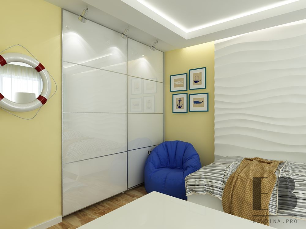 Single room for children interior