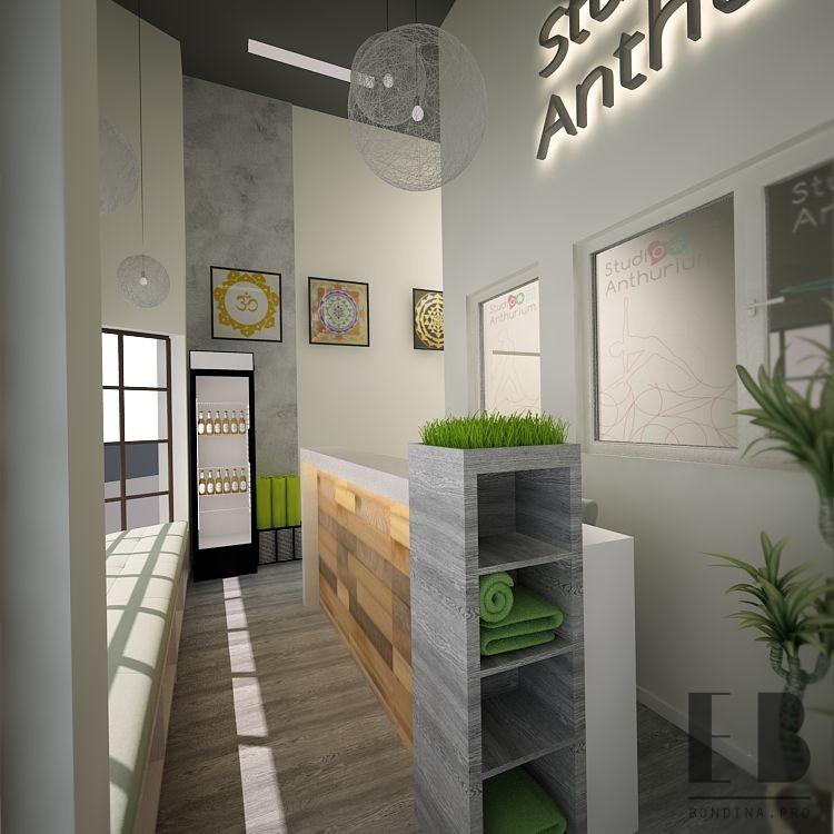 Reception desk interior
