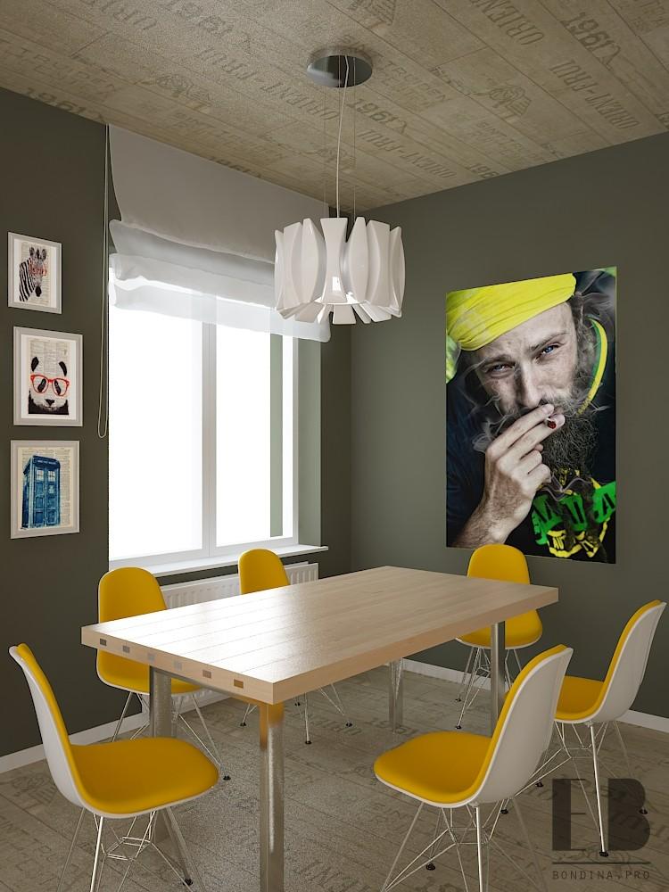 Кухня столовая дизайн интерьера
