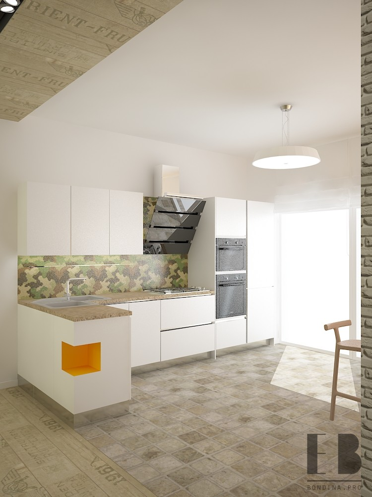Интерьер светлой кухня