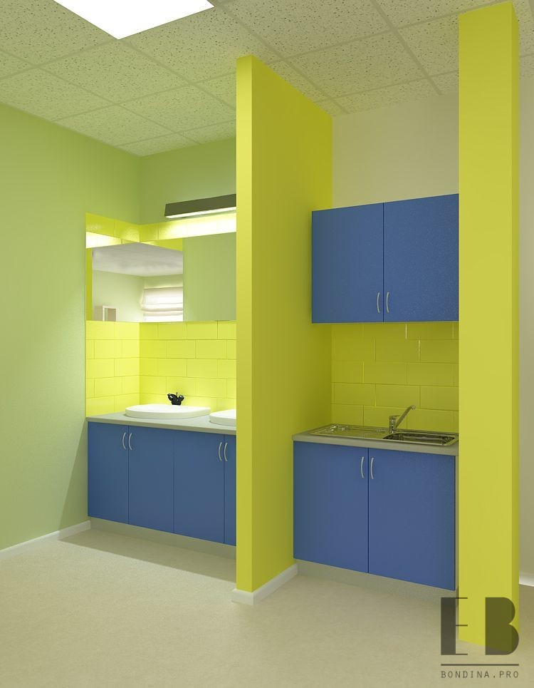 Kitchen design for staff