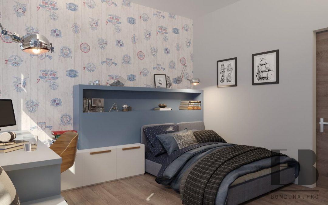 Дизайн спальни для мальчика в светлых тонах
