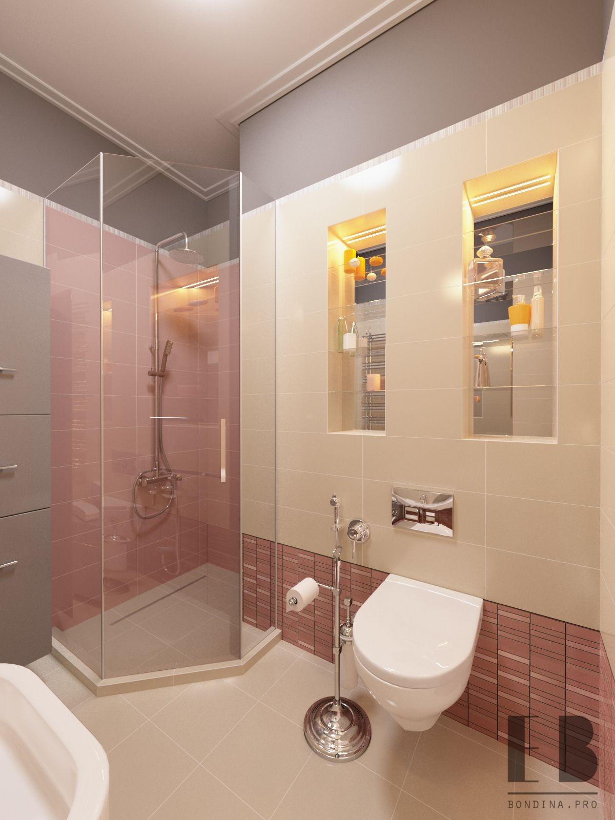 Modern interior style bathroom