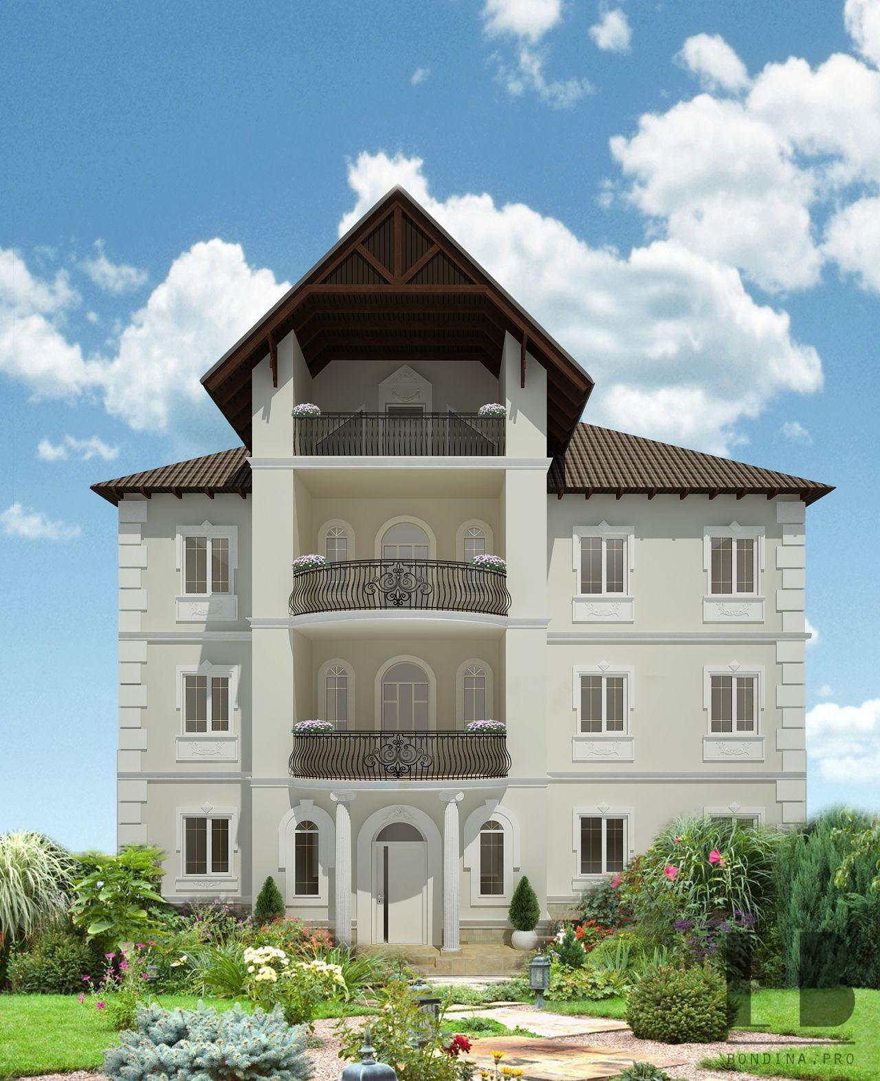 Facade of a house reconstruction