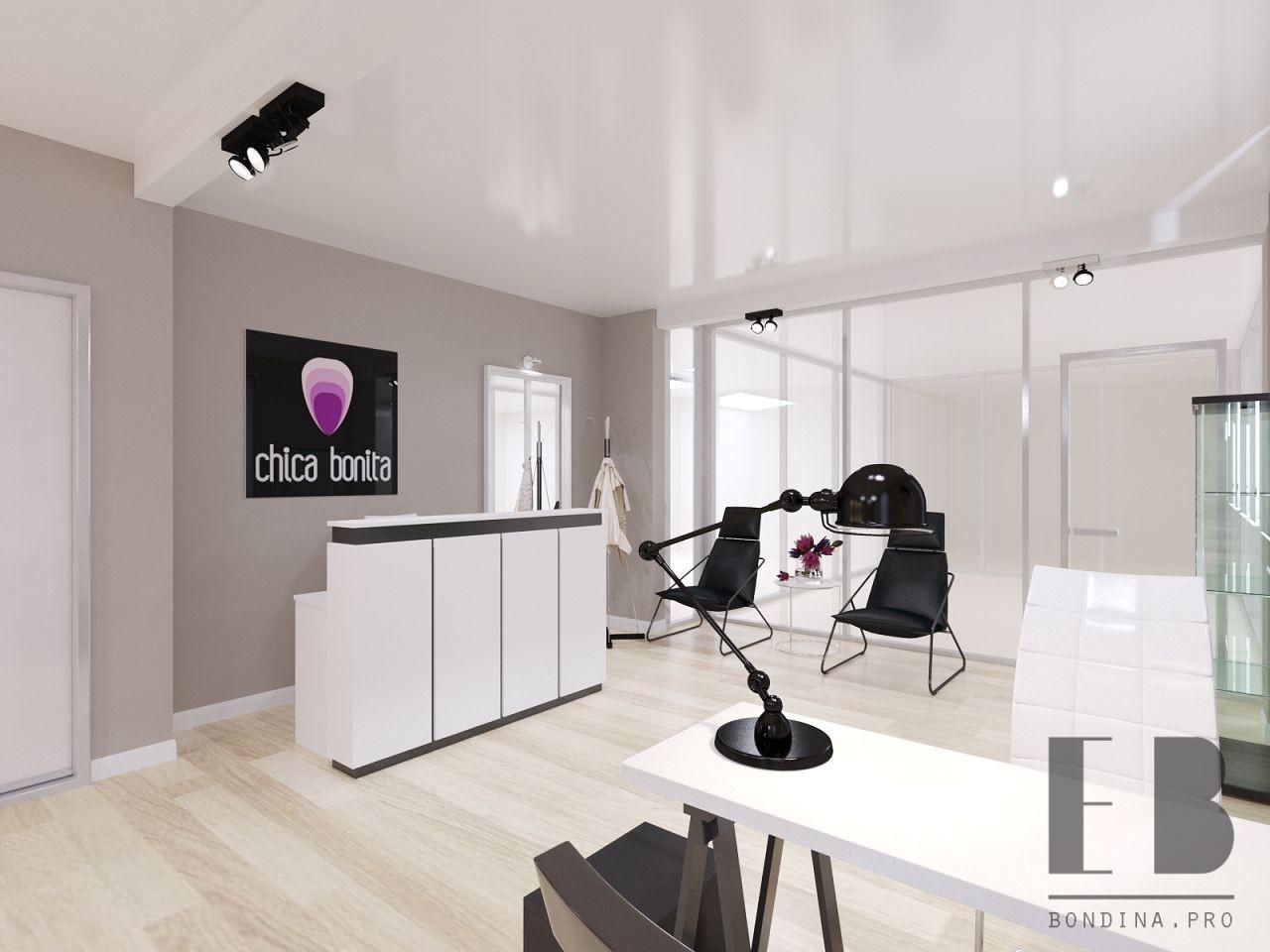 Reception in a beauty salon interior