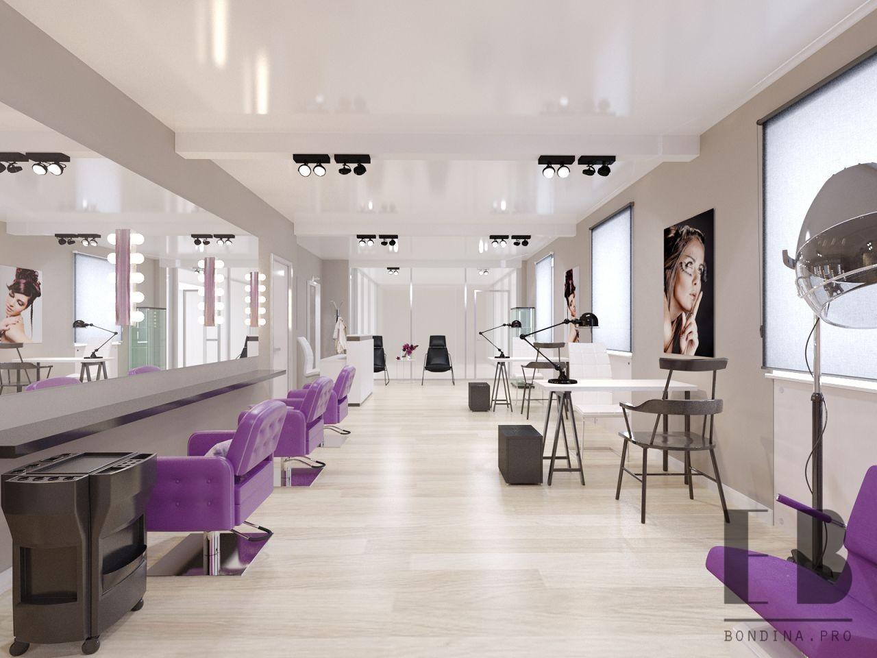 Interior design in a beauty salon