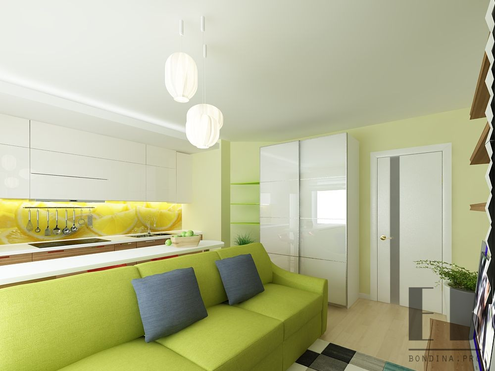 Design in white-green color