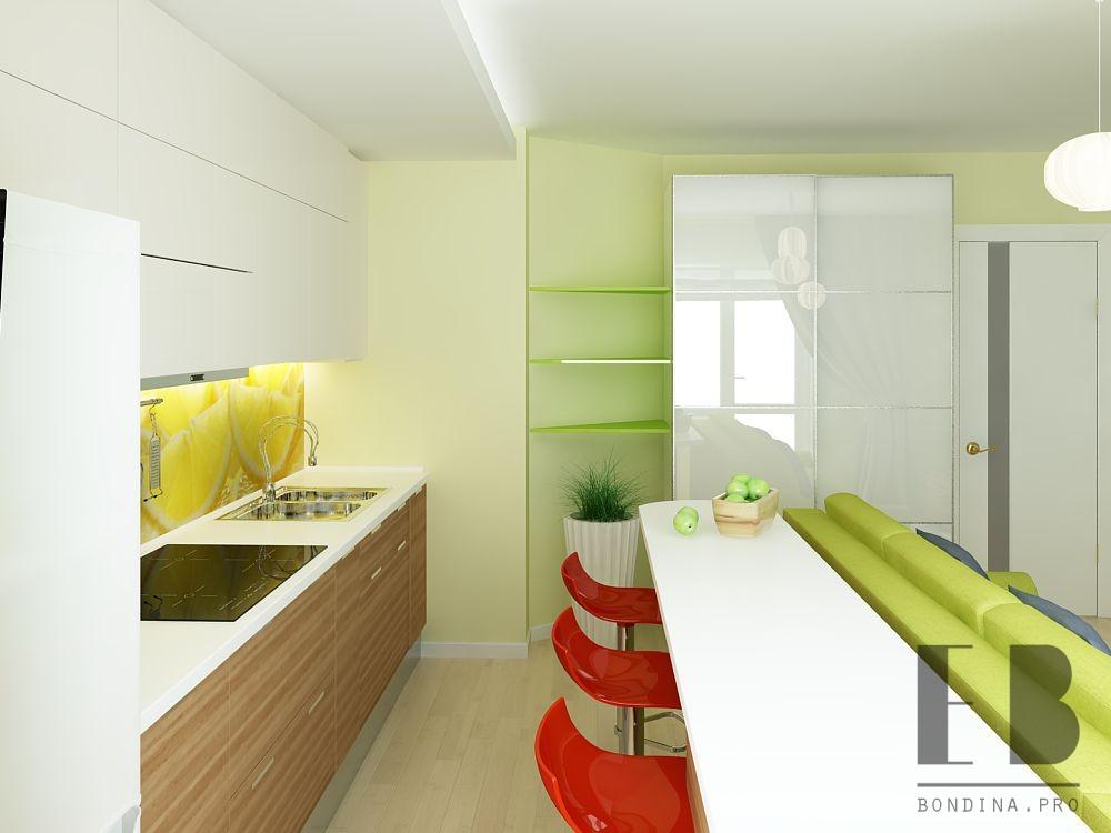Дизайн в бело зеленом цвете