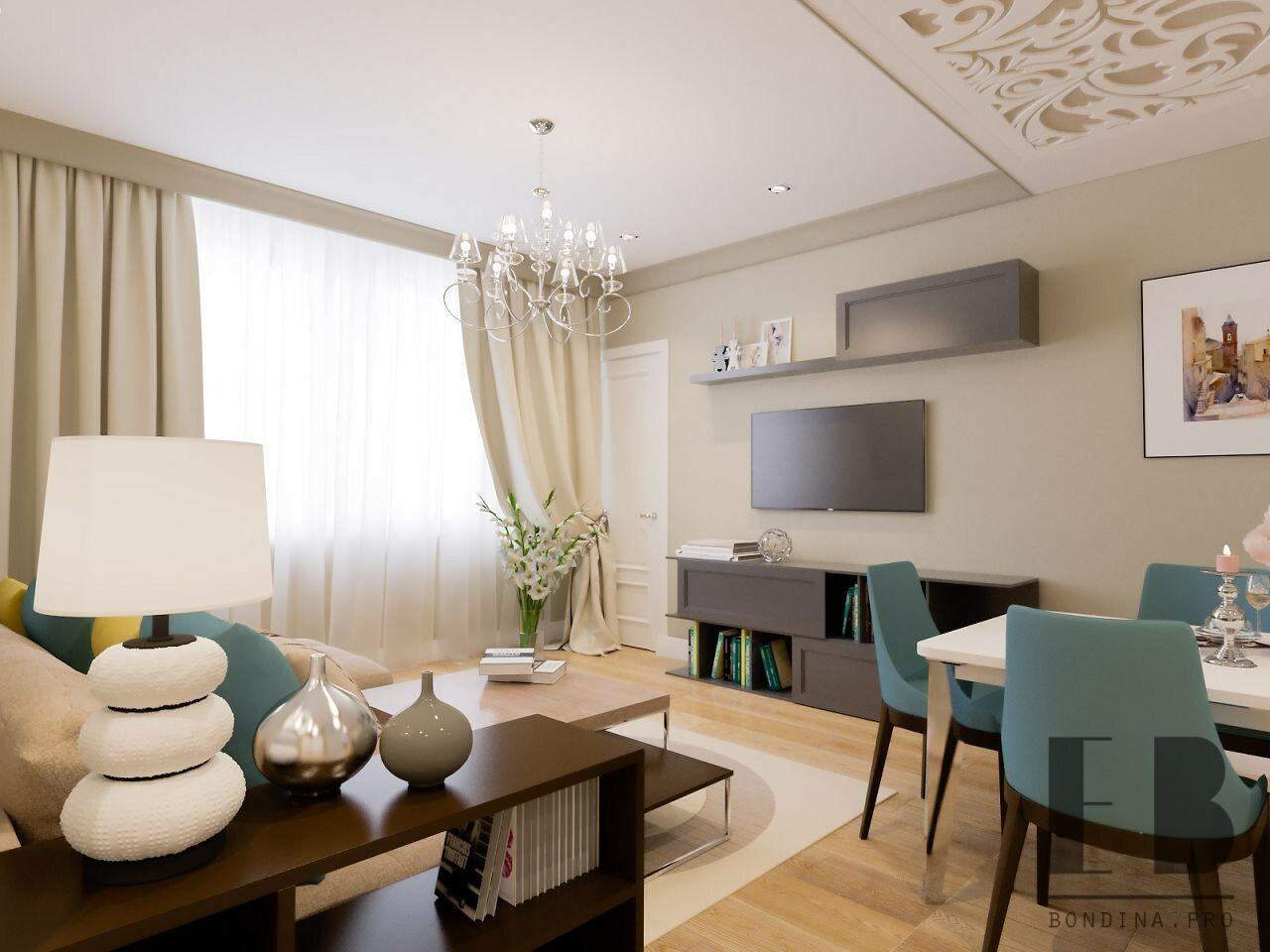 Modern beige living room design