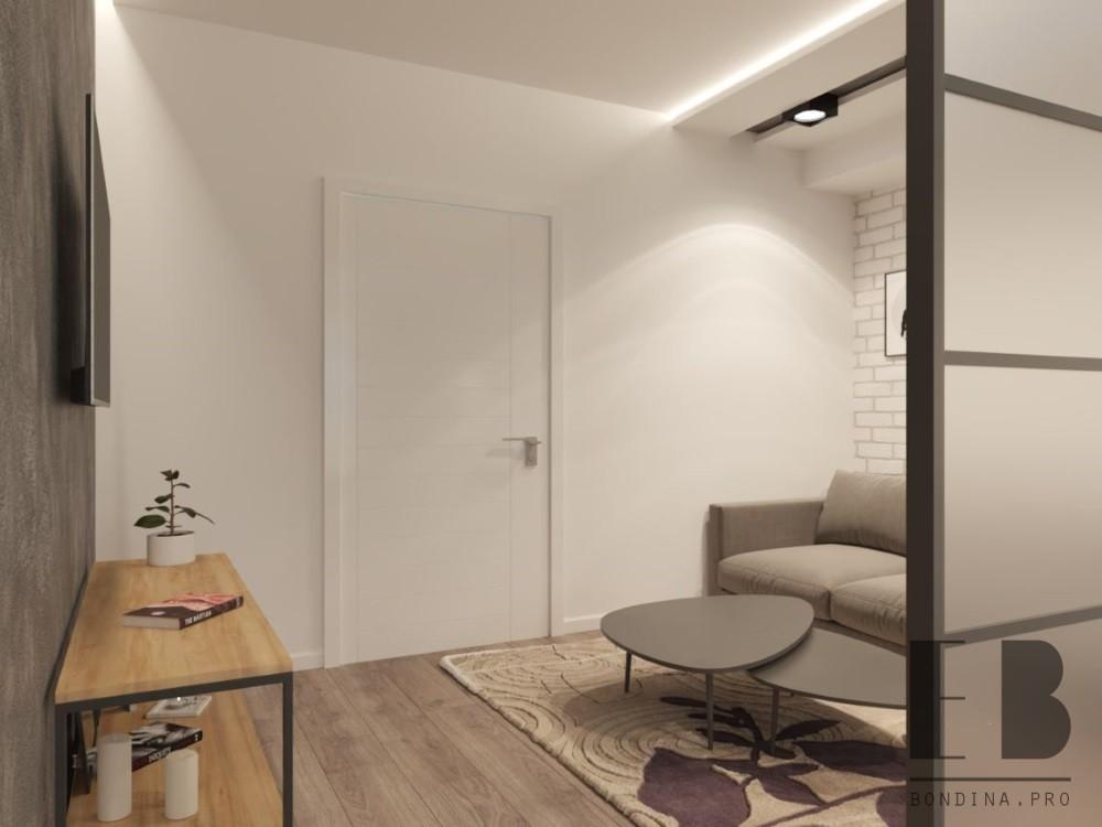 Гостиная в бело серых тонах интерьер