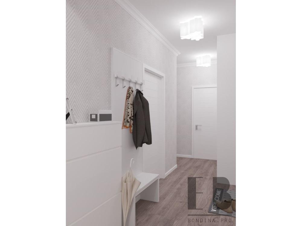Белая прихожая в квартире дизайн
