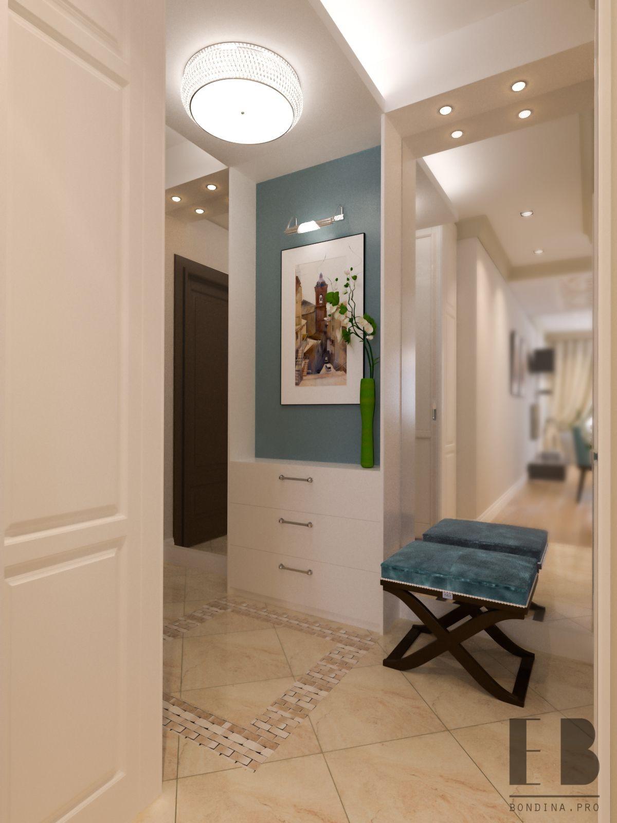 Elegant entrance hall interior design