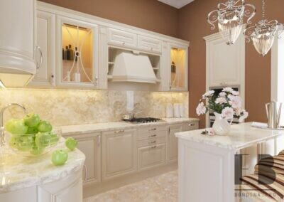 Luxury beige kitchen