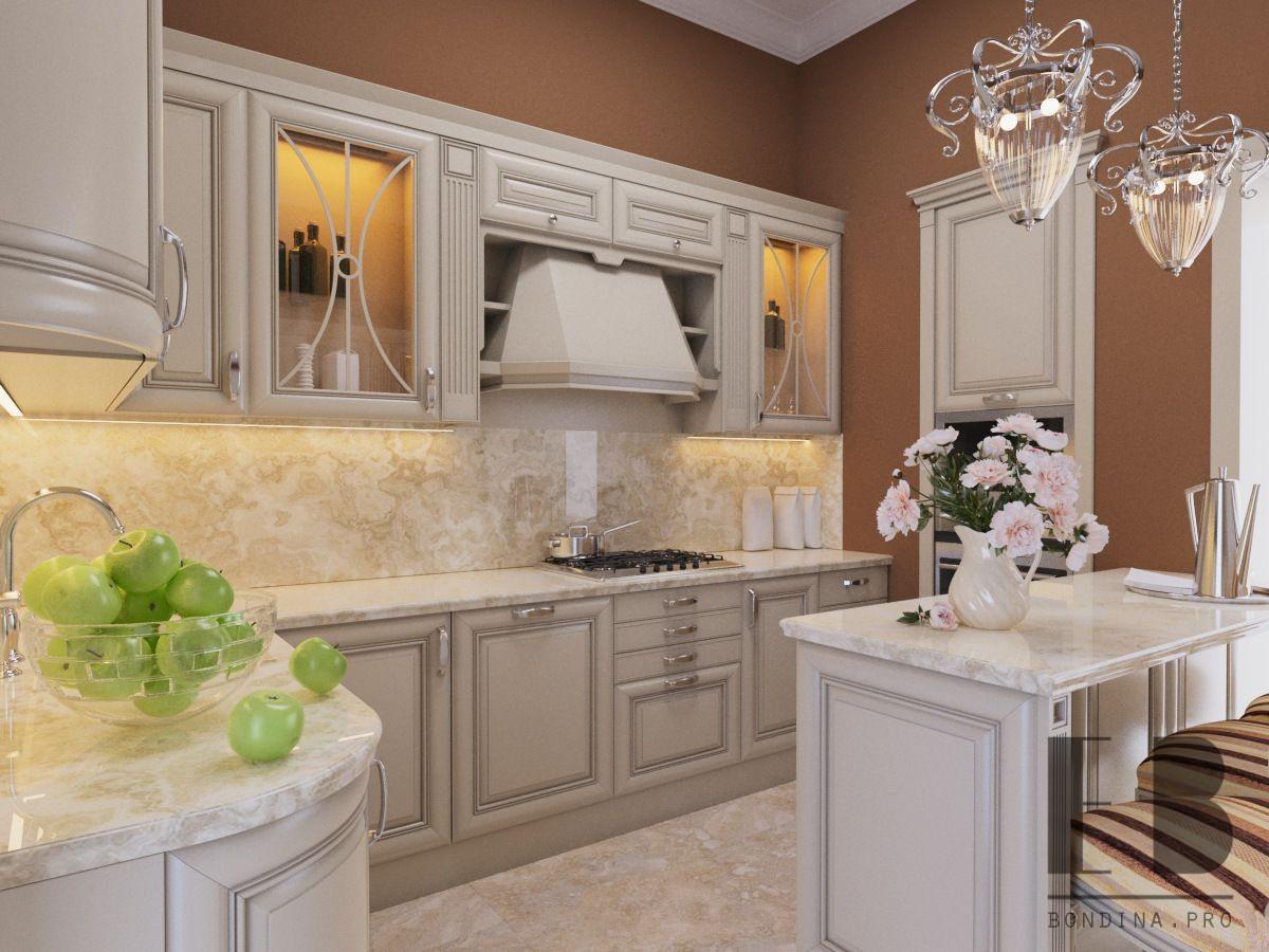 Classic style kitchen interior