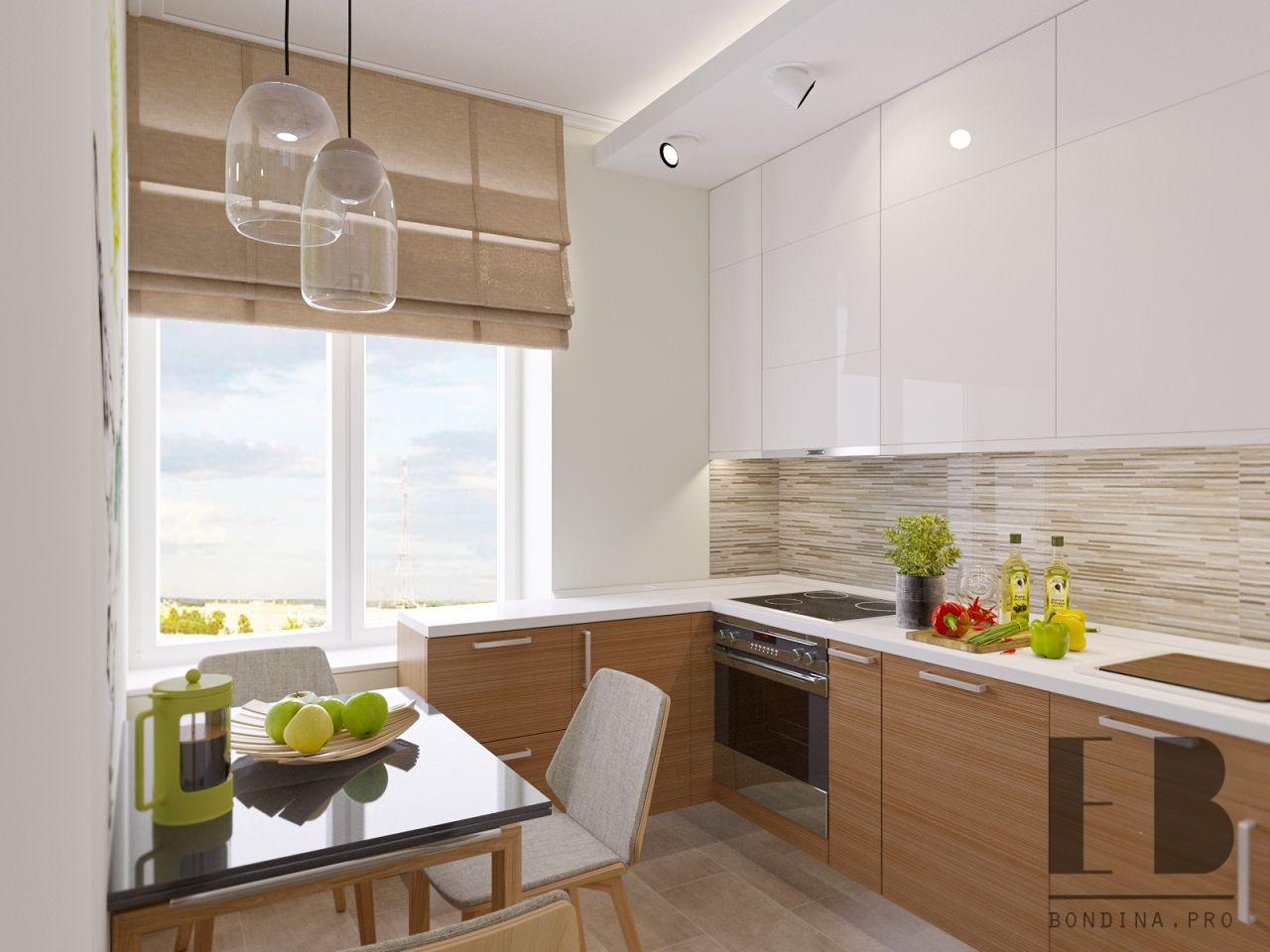 Cozy small white kitchen design