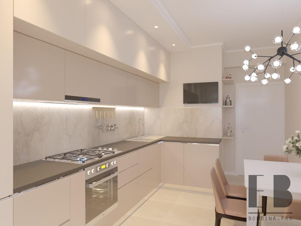 Living room kitchen design