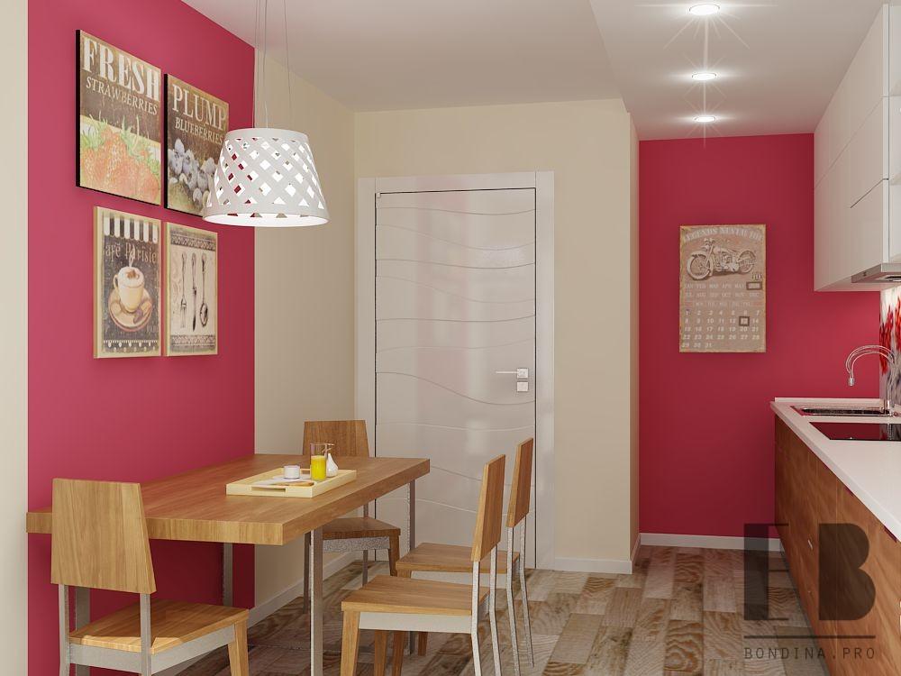 Kitchen in bright colors design