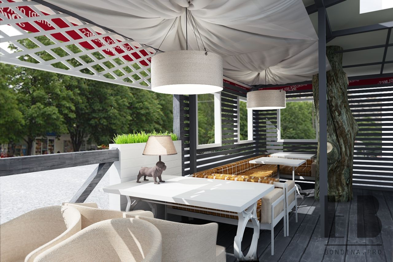 Terrace design with original details