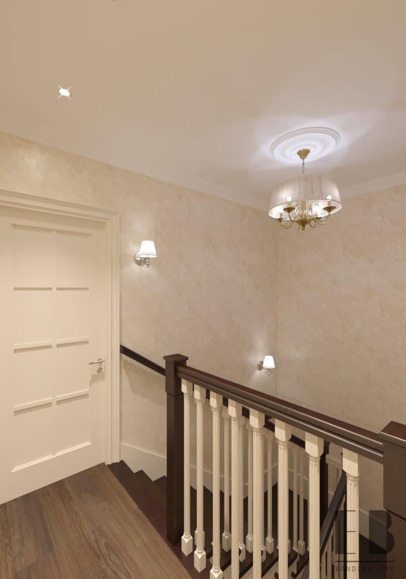 Hall design with stairs