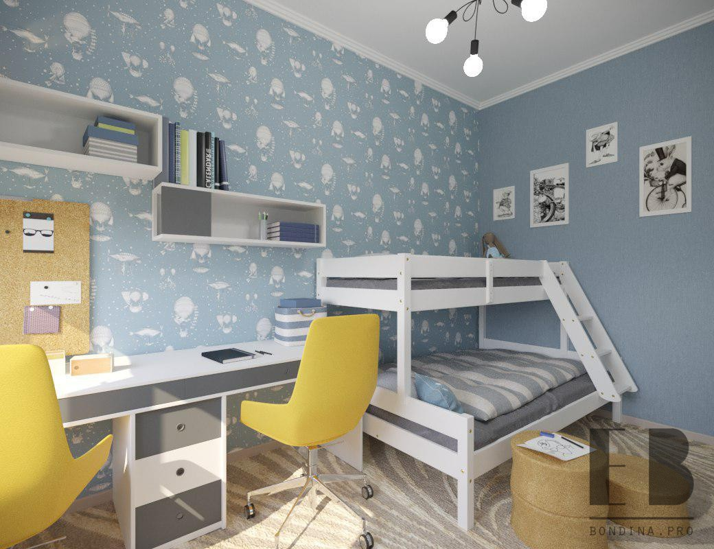 Boys Blue Bedroom interior