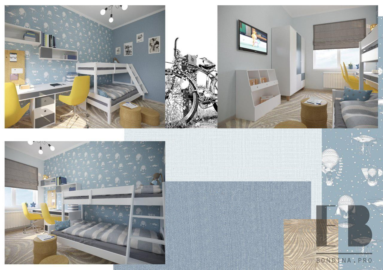 Children's room for a boy interior design