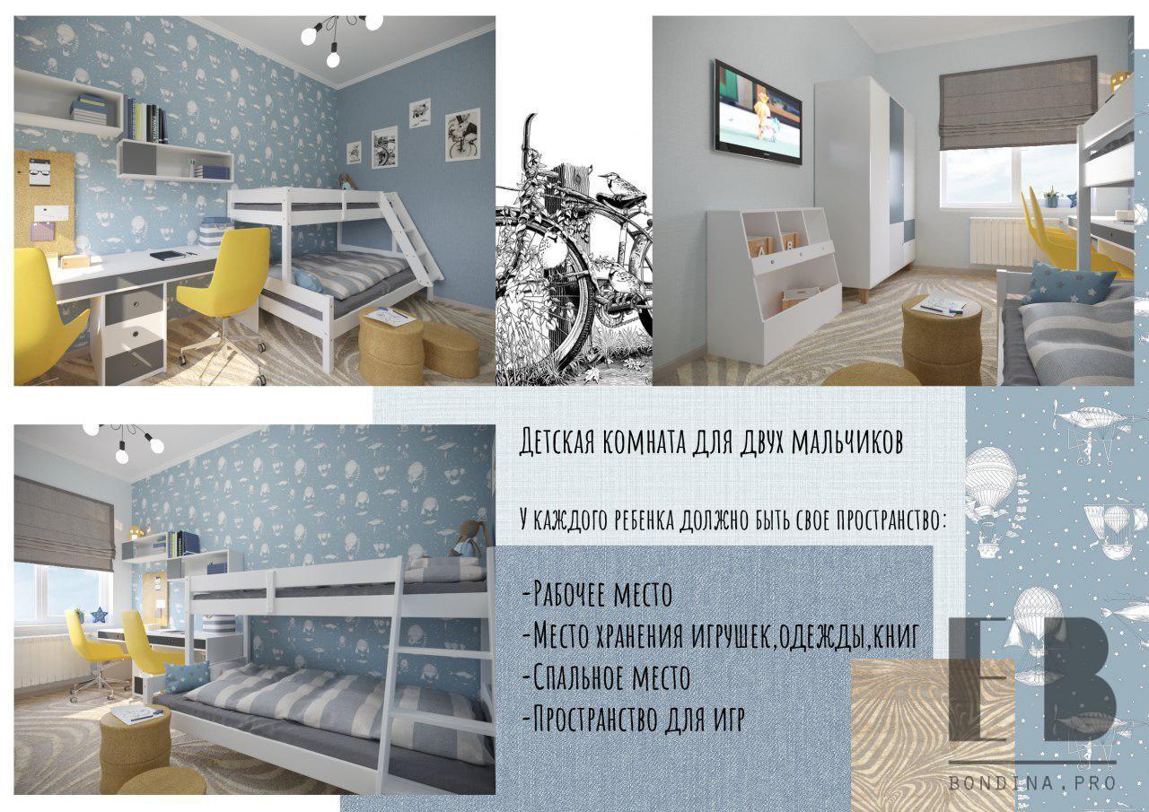 Children's room for a boy interior design